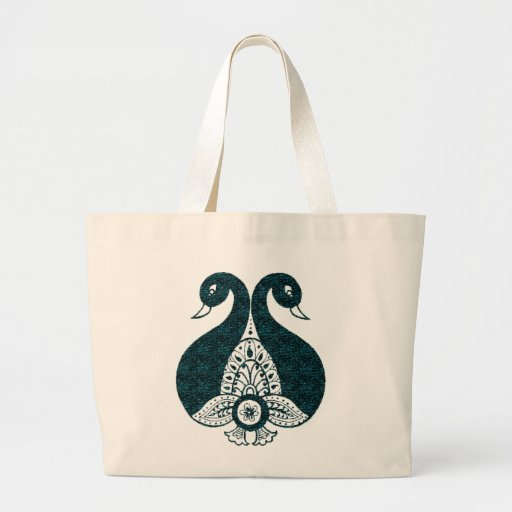 Peacock Jumbo Tote Bag