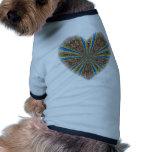 Peacock Kaleidoscope Heart Pet Clothes