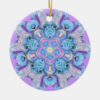 Peacock Kaleidoscope Ornament