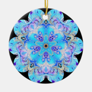 Peacock Kaleidoscope Ornament
