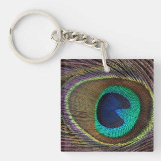 Peacock Acrylic Keychain