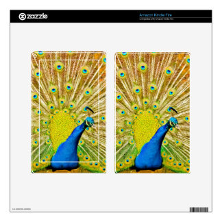 Peacock Kindle Fire Skins