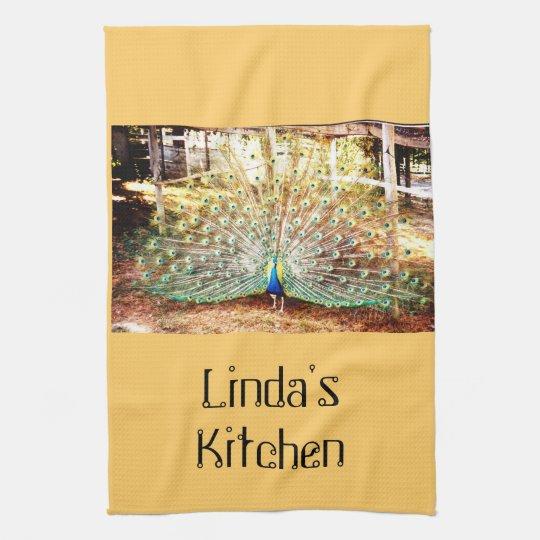 Peacock Kitchen Towel