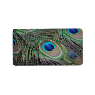 Peacock Personalized Address Label