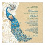Peacock Lace Elegance 2 Wedding Invitation
