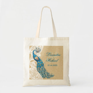 Peacock Lace Elegance 2 Wedding Tote