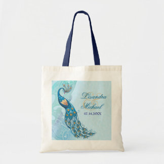 Peacock Lace Elegance Wedding Tote