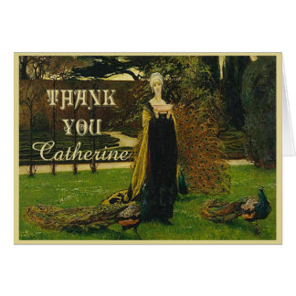 Peacock Lady Thank You Card