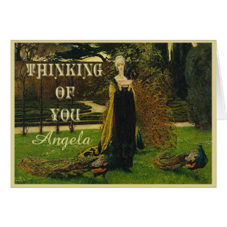 Peacock Lady Thinking of You Card