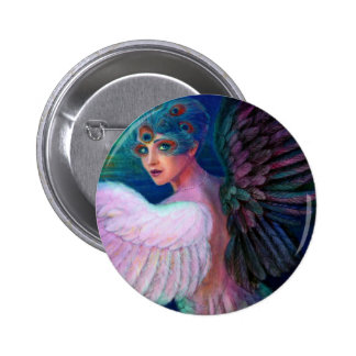 Peacock Lady's Wings of Duality Button