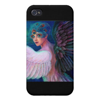 Peacock Lady's Wings of Duality iPhone 4/4S Covers