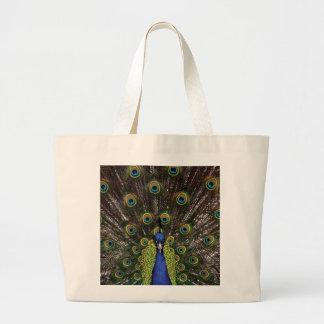 Peacock Large Tote Bag