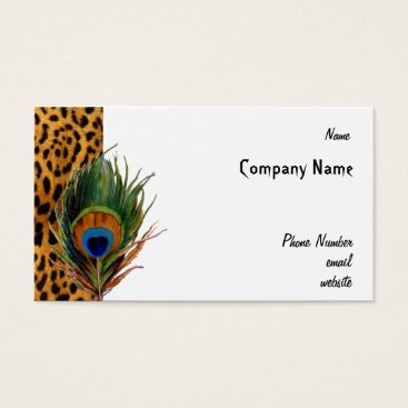 Professional Business Peacock Leopard Business Card
