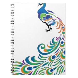 Peacock Libro De Apuntes Con Espiral