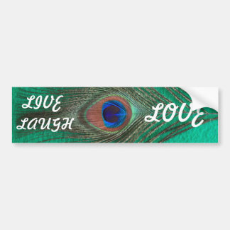 Peacock Live,Laugh,Love Bumper Sticker Car Bumper Sticker