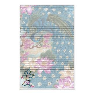 Peacock Lotus Custom Stationery