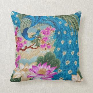 Peacock Lotus Pillows
