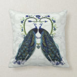 PEACOCK love ornate personalized Throw Pillow