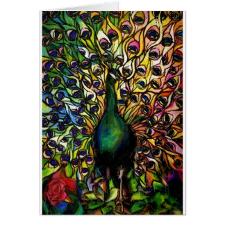 Peacock Majestic Card