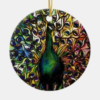 Peacock Majestic Ceramic Ornament