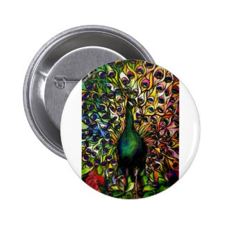 Peacock Majestic Pinback Button