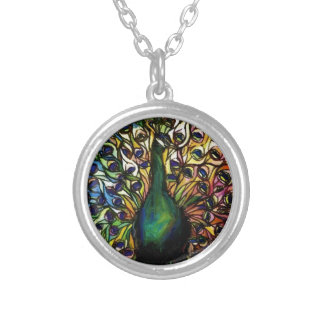 Peacock Majestic Silver Plated Necklace