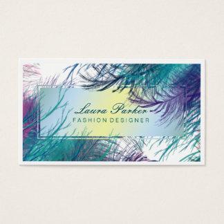 Peacock Makeup Artist Hair Stylist Tree branch Business Card