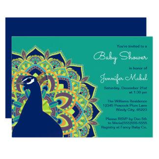 Peacock Mandala Baby Shower Party Invitation