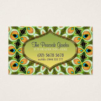 Peacock Mandala Pattern Business Card