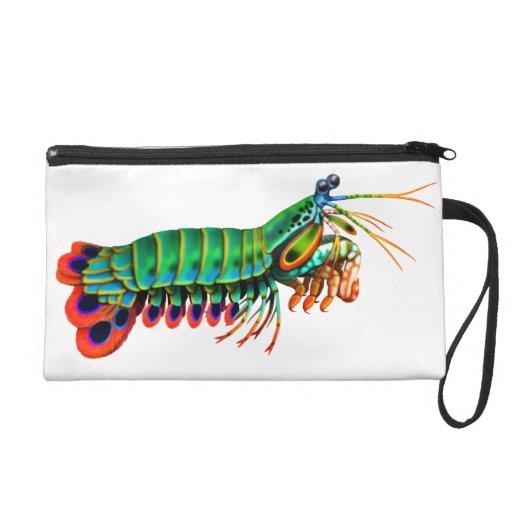 Peacock Mantis Shrimp Bagettes Bag Wristlet Purses