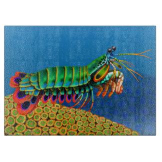 Peacock Mantis Shrimp Cutting Board