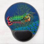 Peacock Mantis Shrimp Gel Mousepad<br><div class='desc'>Original fine art design of a colorful Peacock Mantis Shrimp by artist Carolyn McFann of Two Purring Cats Studio printed on a quality gel mousepad for marine life fans.</div>