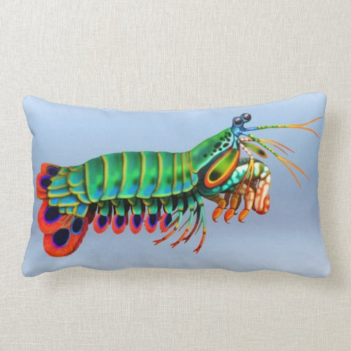 Peacock Mantis Shrimp Reef Animal Pillow