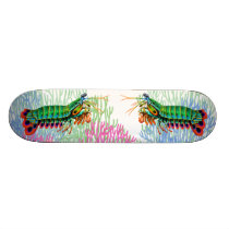 Peacock Mantis Shrimp Reef Animal Skateboard