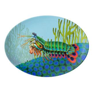 Peacock Mantis Shrimp Reef Porcelain Platter
