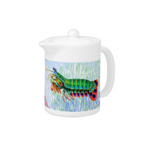 Peacock Mantis Shrimp Teapot