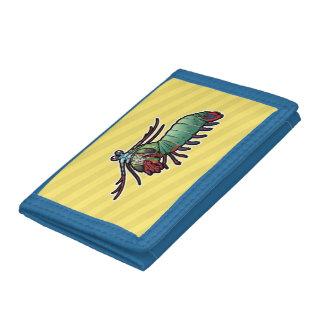 Peacock Mantis Shrimp Tri-fold Wallets