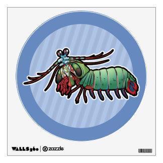 Peacock Mantis Shrimp Wall Decal