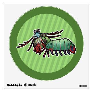 Peacock Mantis Shrimp Wall Sticker
