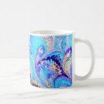 Peacock Marbled Mug