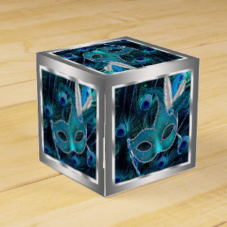 Peacock Masquerade Party Favor Box