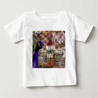 Peacock missing you baby T-Shirt