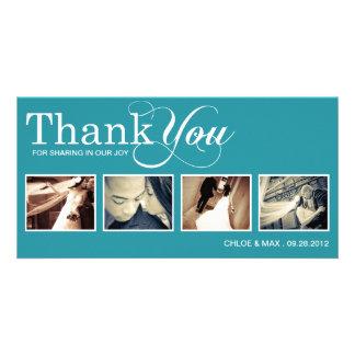 PEACOCK MODERN THANKS | WEDDING THANK YOU CARD