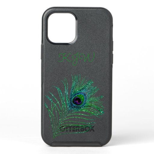 Peacock Monogram Otterbox Case