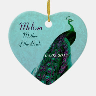 Peacock Mother of the Bride Thank You Favor Ceramic Ornament