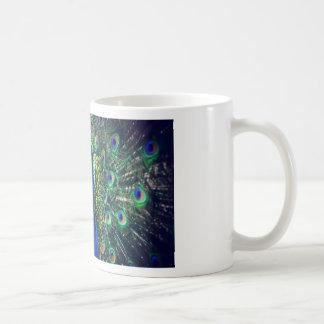 peacock classic white coffee mug