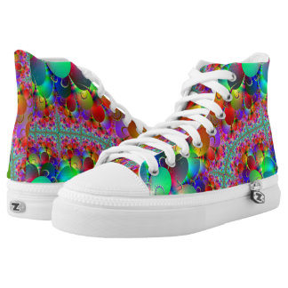 Peacock Multi Zipz High Top Shoes Printed Shoes