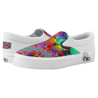 Peacock Multi Zipz Slip On Shoes Printed Shoes