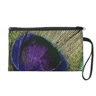 Peacock n purple wedding favors wristlet purse