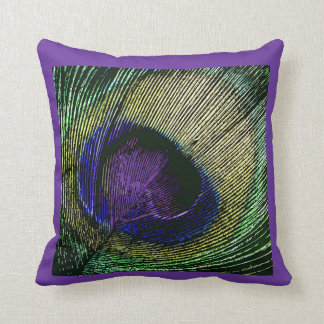 Peacock n purple wedding party throw pillow